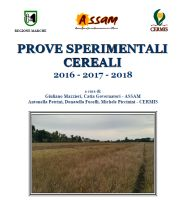 Cereals experimental trials 2016-2018